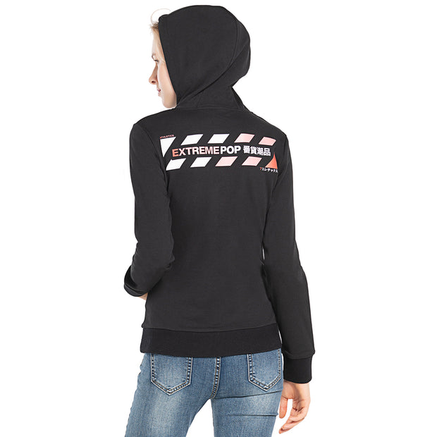 Womens Hoodies Sweatshirts Digital Print Top  S M L XL BLACK GREY