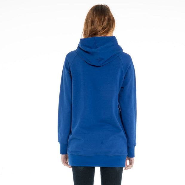 Women's Longline  Hoodie Sweatshirt S M L XL  Black Royal Blue Pink
