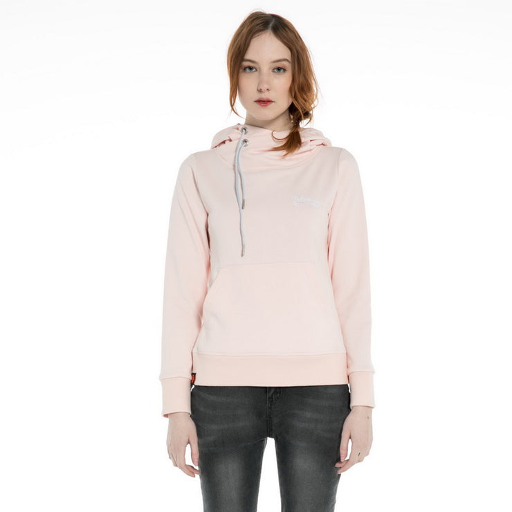 High Collar Hooded Sweatshirt