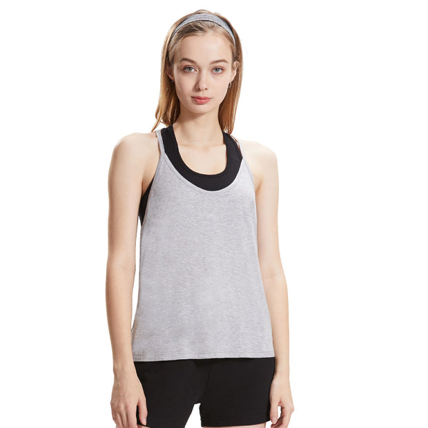 Extreme Pop Womens Gym Tank Tops and Sports Fitness Bra Suit grey black white