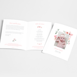 Funeral Service Program Template for Baby or Child | No. 001