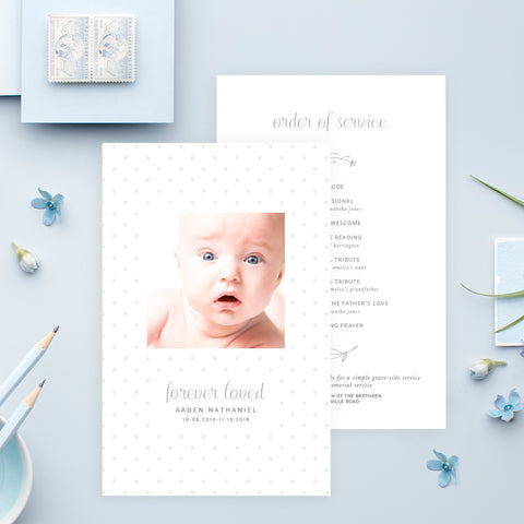 Funeral Service Program Template for Baby or Child | No. 006