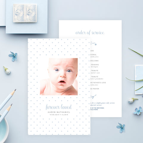 Funeral Service Program Template for Baby or Child | No. 008