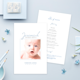 Funeral Service Program Template for Baby or Child | No. 009