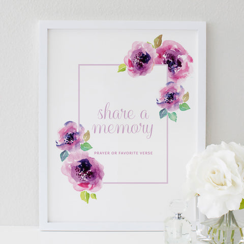 Funeral Service Memory Sign for Baby or Child | No. 003