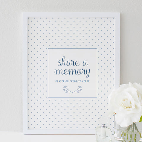 Funeral Service Memory Sign for Baby or Child | No. 008