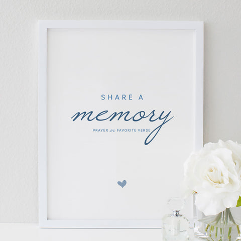 Funeral Service Memory Sign for Baby or Child | No. 009