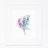 Art Print | Snapdragon & Statice Flowers
