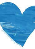 Never Forgotten, Forever Loved Art Print | Blue Heart