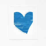 Personalized Birthday Project Print | Blue Heart with Name