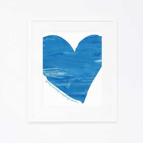 Birthday Project Print | Blue Heart