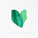 Personalized Heart Print | Green Heart with Name