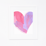 Personalized Heart Print | Pink Heart with Name