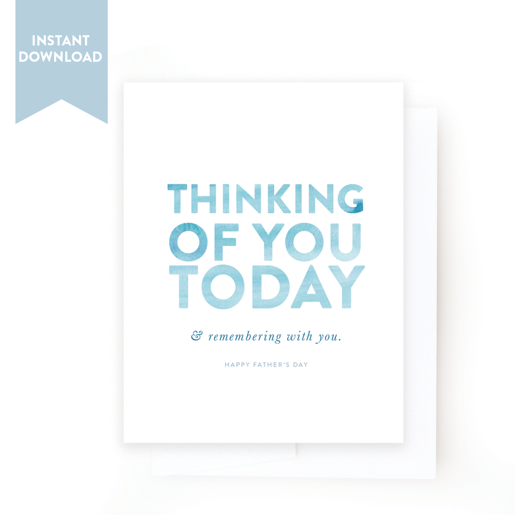 graphic about Printable Thinking of You Card called Printable Fathers Working day Card No. 04