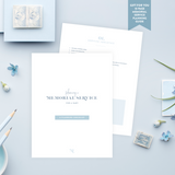 Funeral Service Program Template for Baby or Child | No. 010
