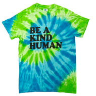 Be A Kind Human Tie Dye Boutique Tee