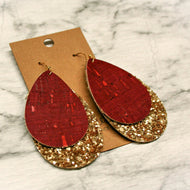 Cork & Glitter Earrings