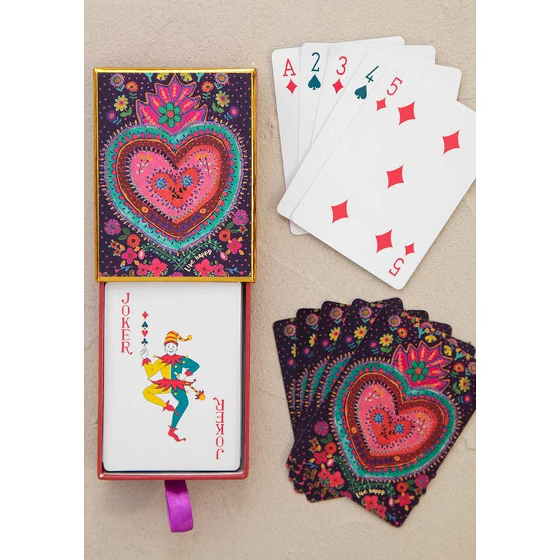 Happy Heart Playing Cards by Natural Life