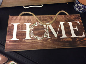 Hanging home sign