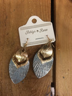 Grey Fly Away With Me Metric Drop Earrings
