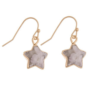 Semi Precious Star Earrings