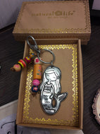 Mermaid metallic keychain