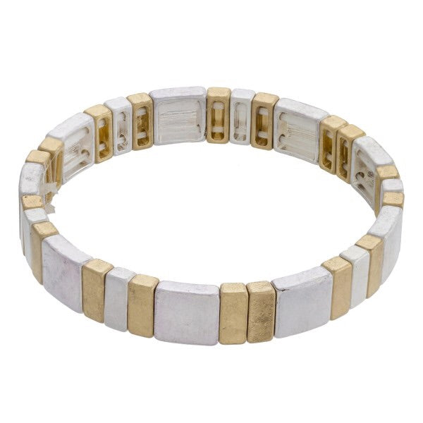 Metal Block Stretch Bracelet