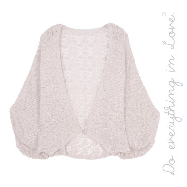 Crochet Lace Back Short Cardigan