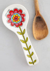 Live Happy Flower Spoon Rest