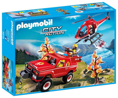 Playmobil 9518 - Super set Pompieri Forestali in vendita da Gioca Joué