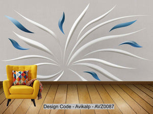 Avikalp Exclusive AVZ0087 Modern Minimalist Abstract Geometric Curved Tv Background Wall HD 3D Wallpaper