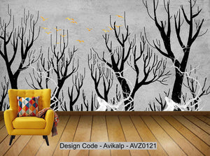 Avikalp Exclusive AVZ0121 Modern Minimalist Abstract Tree Elk Tv Background Wall Customization HD 3D Wallpaper