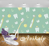 Avikalp Exclusive AWD0022 Dental Clinic Wallpaper Green Leaf Toothbrush Paste HD Wallpaper