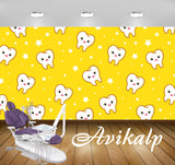 Avikalp Exclusive AWD0044 Dental Clinic Wallpaper Yellow White HD Wallpaper