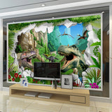 Avikalp Exclusive AWZ0013 Cartoon Dinosaur Forest Creative HD 3D Wallpaper