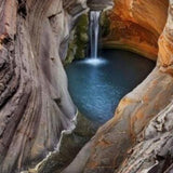 Avikalp Exclusive AWZ0082 Personality Stereo Great Cave Waterfall HD 3D Wallpaper
