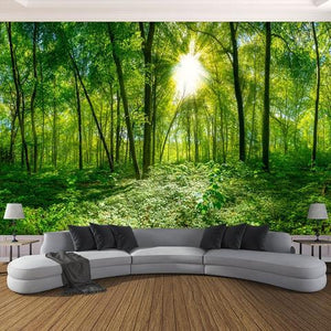 Avikalp Exclusive AWZ0105 Stereoscopic Space Green Forest Trees Nature HD 3D Wallpaper