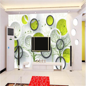 Avikalp Exclusive AWZ0131 3d Wallpaper Mural 3d Room Wall Stickers Abstract Tree HD 3D Wallpaper