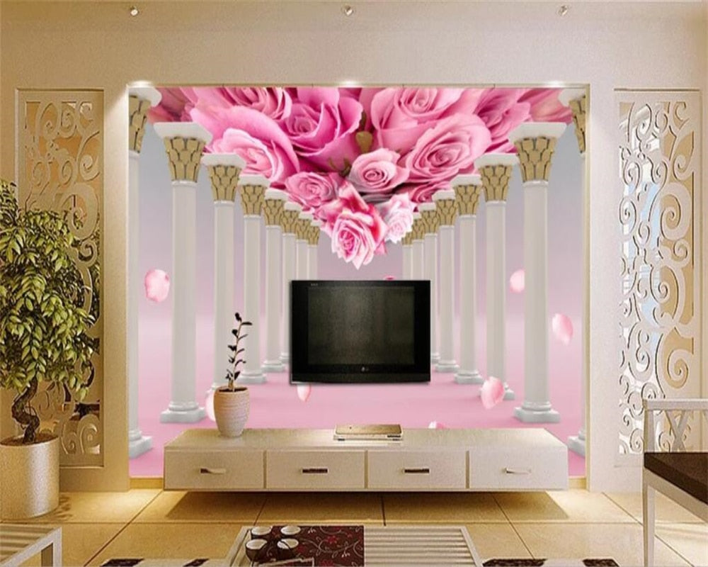 Avikalp Exclusive AWZ0163 3d Wallpaper Mural Rose Flower Living Room  Bedroom Tv Background Wall HD 3D Wallpaper