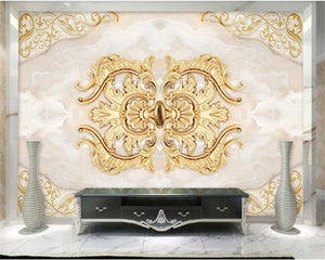 Avikalp Exclusive AWZ0394 3D Wallpaper Home Decor Custom Gold Mural Marble HD 3D Wallpaper
