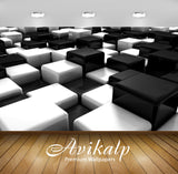 Avikalp Exclusive Blocks AWI1057 HD Wallpapers for Living room, Hall, Kids Room, Kitchen, TV Backgro
