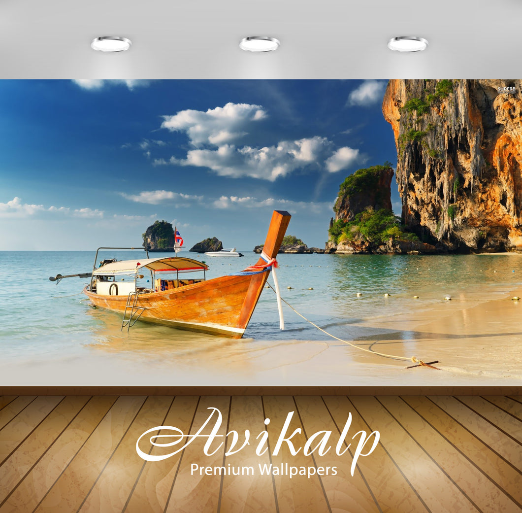 Avikalp Exclusive Boat AWI1094 HD Wallpapers for Living room, Hall, Kids Room, Kitchen, TV Backgroun