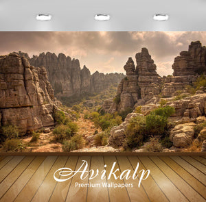 Avikalp Exclusive Canyon AWI1101 HD Wallpapers for Living room, Hall, Kids Room, Kitchen, TV Backgro