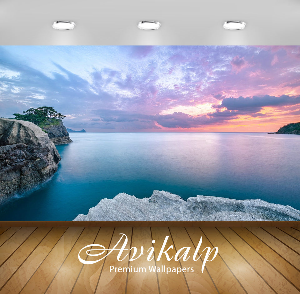 Avikalp Exclusive Scenery Climate Ocean AWI1187 HD Wallpapers for Living room, Hall, Kids Room, Kitc