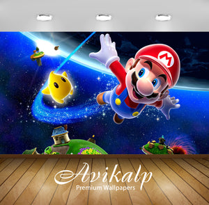 Avikalp Exclusive Super Mario AWI1224 HD Wallpapers for Living room, Hall, Kids Room, Kitchen, TV Ba