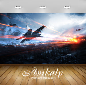 Avikalp Exclusive Take Off With Sunrise AWI1227 HD Wallpapers for Living room, Hall, Kids Room, Kitc