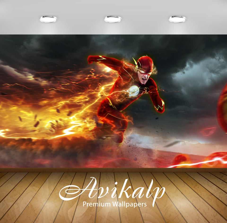 Avikalp Exclusive The Flash AWI1231 HD Wallpapers for Living room, Hall, Kids Room, Kitchen, TV Back