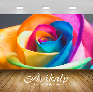 Avikalp Exclusive Awi1261 Multicolour Rose Full HD Wallpapers for Living room, Hall, Kids Room, Kitc