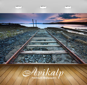 Avikalp Exclusive Awi1266 Railway Track Full HD Wallpapers for Living room, Hall, Kids Room, Kitchen