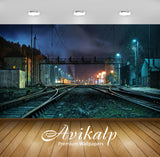 Avikalp Exclusive Awi1267 Railway Tracks Full HD Wallpapers for Living room, Hall, Kids Room, Kitche